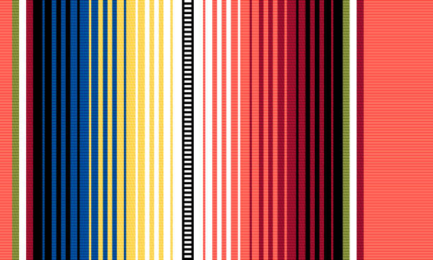 Blanket stripes vector pattern. Serape design with trendy colors Blanket stripes vector pattern. Background for Cinco de Mayo party decor or ethnic mexican fabric pattern with colorful stripes. Serape design with trendy colors serape stock illustrations