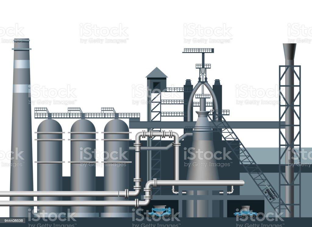 A blast furnace shop. vector art illustration