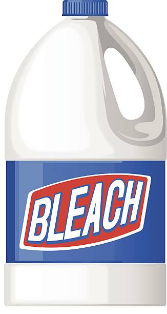bleach bottle vector art illustration