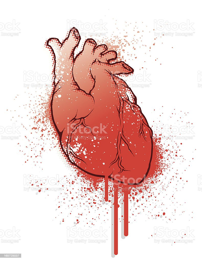 Bleeding Heart Grunge Stock Illustration - Download Image ...