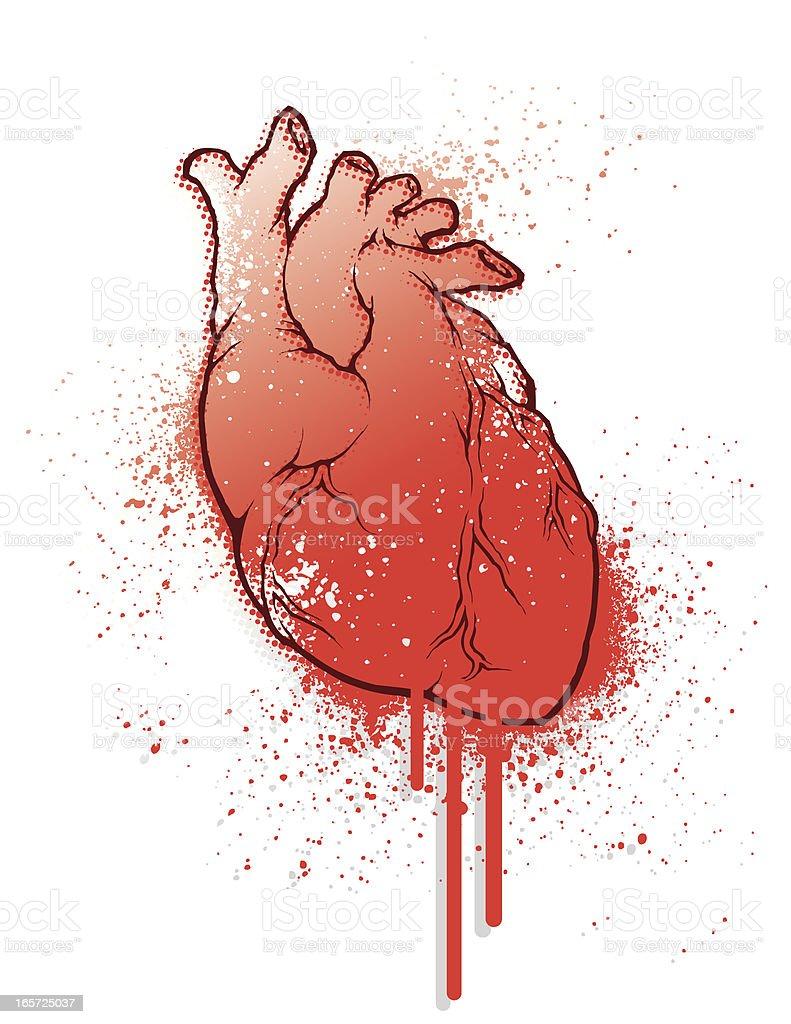 Bleeding Heart - Grunge vector art illustration