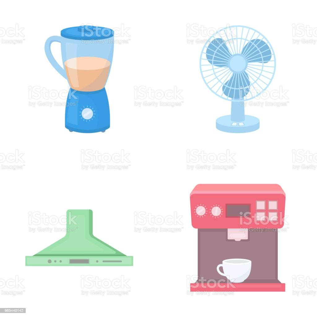 Blender, extractor and other equipment.Household set collection icons in cartoon style vector symbol stock illustration web. blender extractor and other equipmenthousehold set collection icons in cartoon style vector symbol stock illustration web - stockowe grafiki wektorowe i więcej obrazów dowcip rysunkowy royalty-free