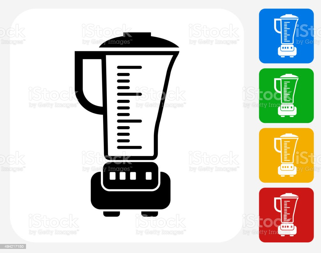 Blender Icon Flat Graphic Design vector art illustration