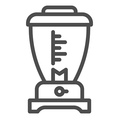Blender line icon, kitchen appliances concept, Electric mixer sign on white background, Kitchen electric blender icon in outline style for mobile concept and web design. Vector graphics.
