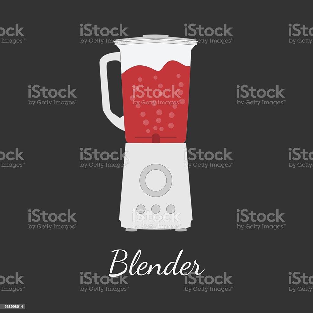 Blender Vector Illustration In Flat Design Stock