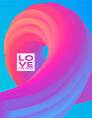 istock Blending 3d colorful lines, gradient shapes, party modern background with spiral, flowing abstract geometric shapes, 3d abstract background 1208302130