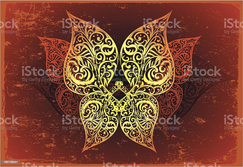 blessing butterfly vector art illustration