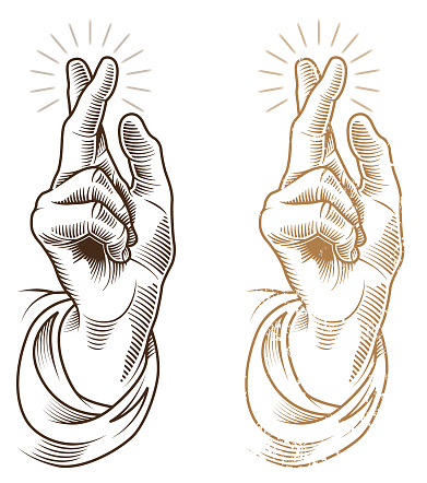 A hand making a blessing symbol