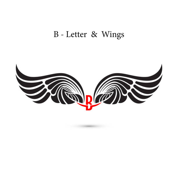 Letter B Tattoo Fonts Silhouettes Clip Art Vector Images Illustrations