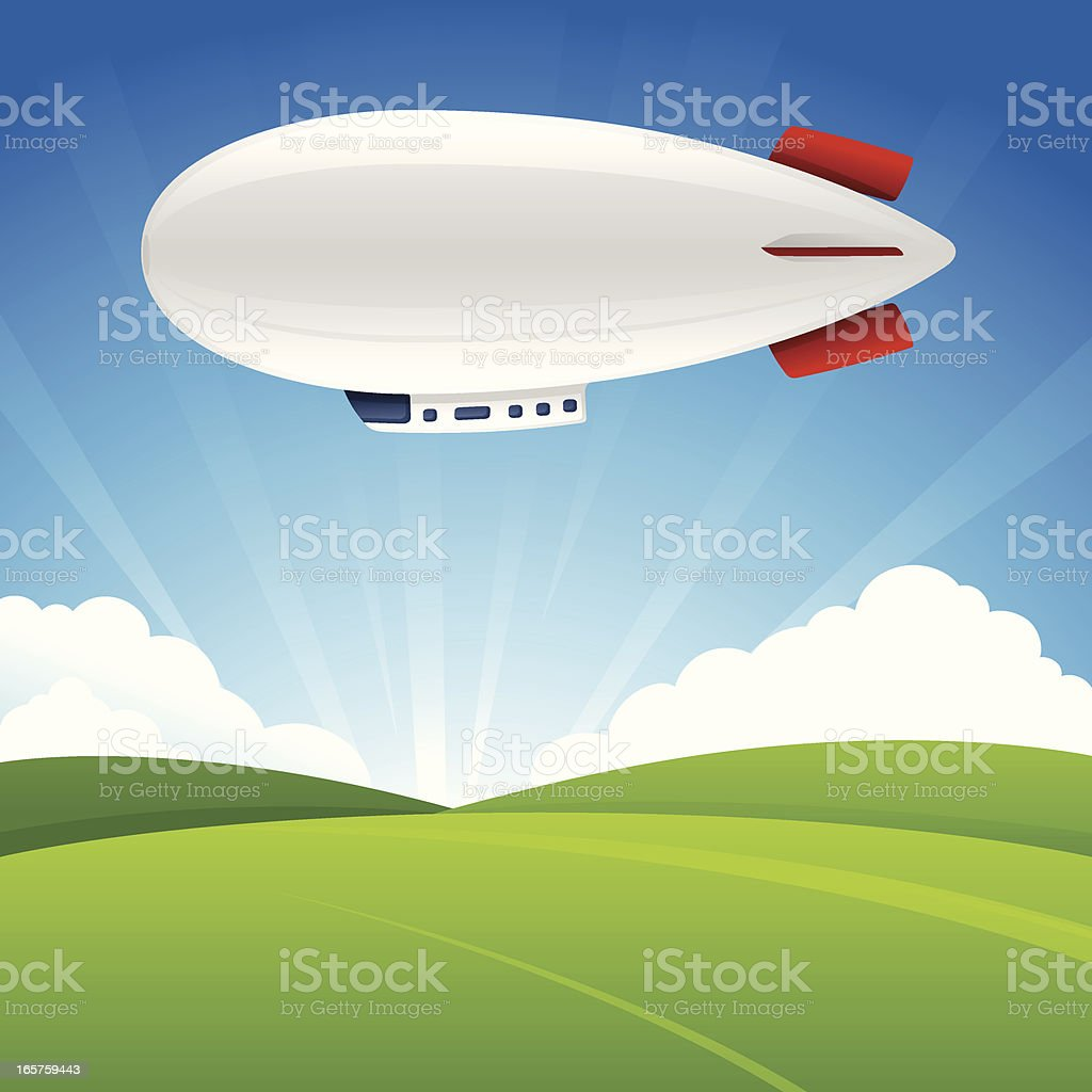 Blimp Background vector art illustration