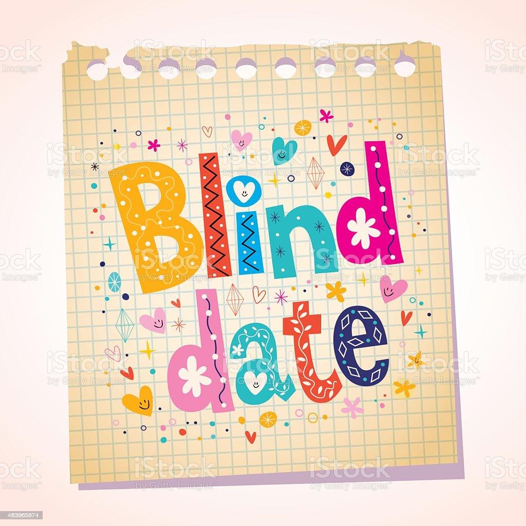 Blind date notepad paper message vector art illustration