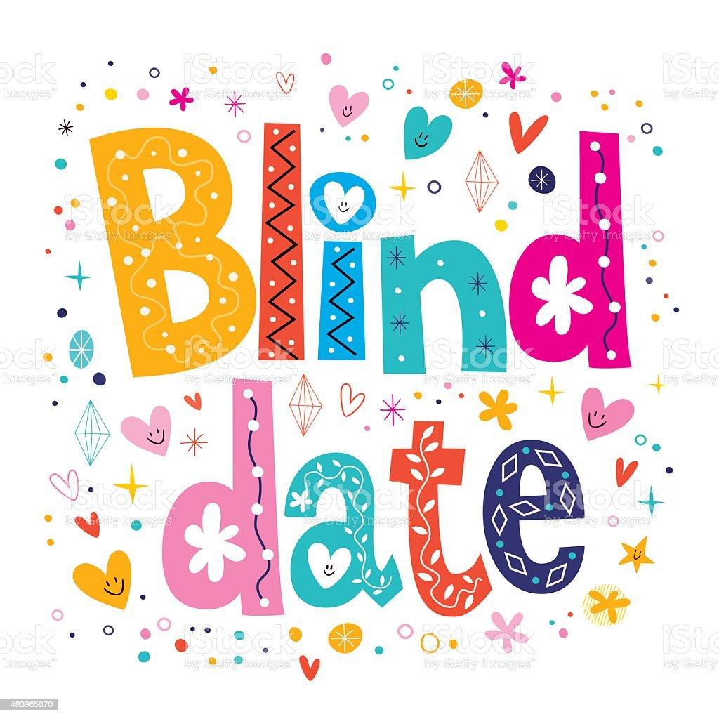 Blind date vector art illustration