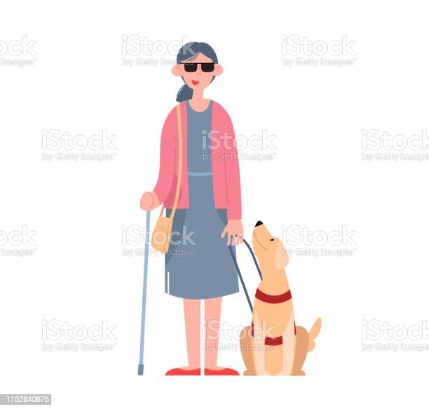 Blind girl wearing sunglasses with a seeingeye dog vector id1152840675?b=1&k=6&m=1152840675&s=612x612&h=7q 2gclw be5dfstlyw fhg3wkgpwtqyzevqjam5zgy=