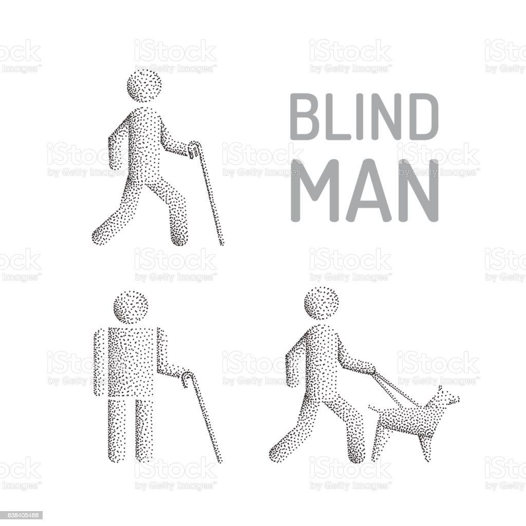 Blinder Mann Und Sehende Auge Hund Stock Vektor Art und mehr Bilder ...