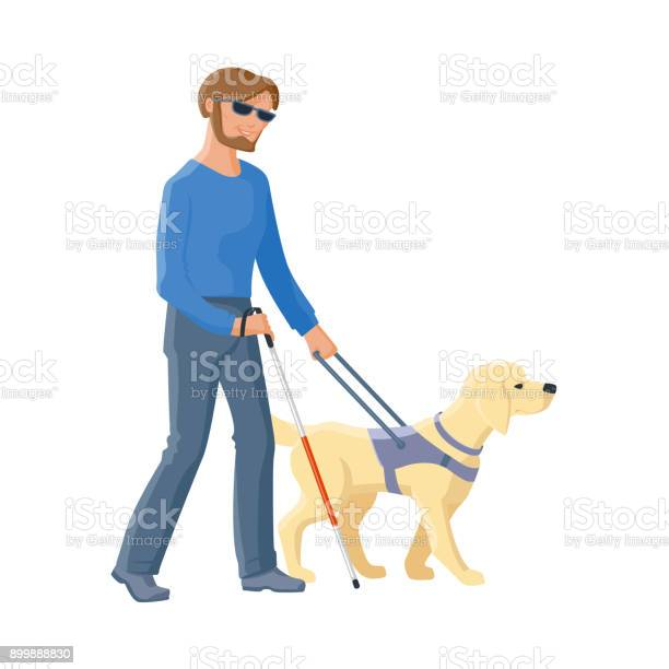 Blind man walking with cane and guide dog vector id899888830?b=1&k=6&m=899888830&s=612x612&h=bcysps68yemt4fr2mnktj6nh0yykgdlrj5s2fuirqlc=