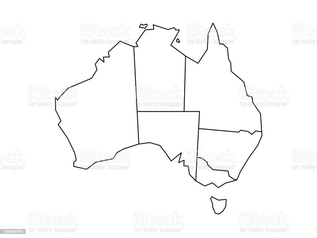 Blind map of Australia royalty-free blind map of australia stock illustration - download image now