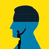 Blindfolded Man Illustration