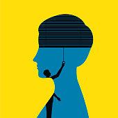 Blindfolded Woman Illustration