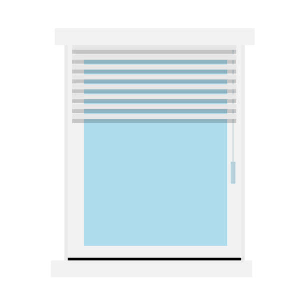 blinds on the window vector flat isolated - store stock illustrations