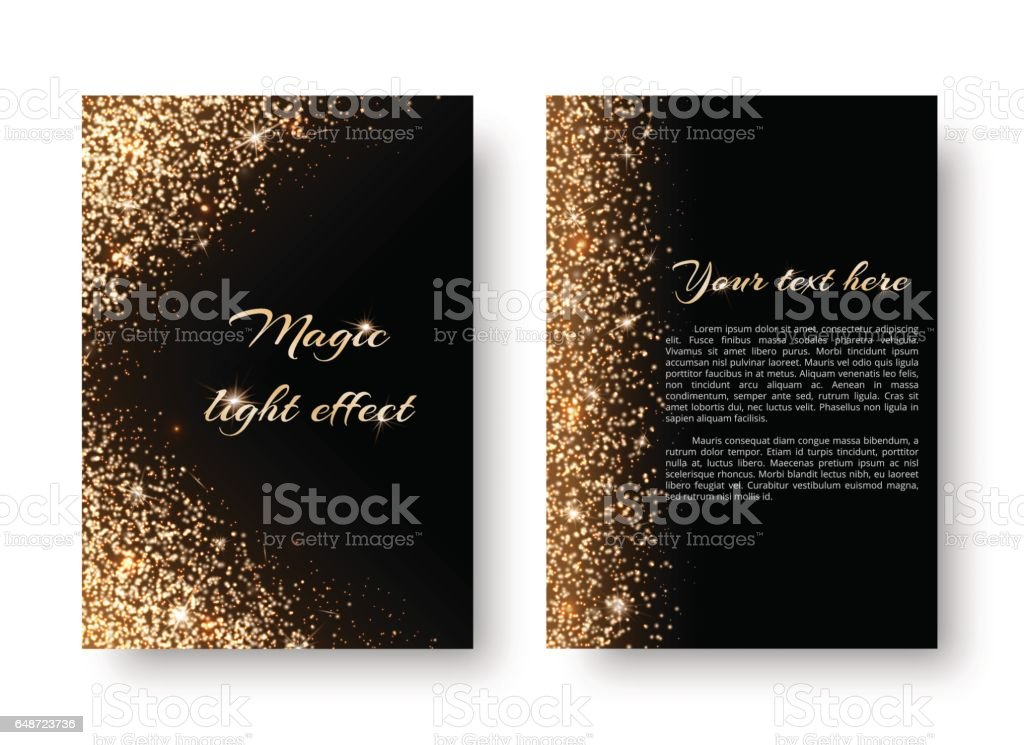Bling background with holiday lights vector art illustration