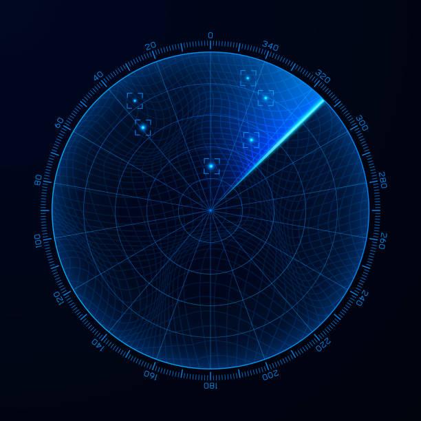 blip. target detection on the radar screen. vector illustration - radar stock illustrations