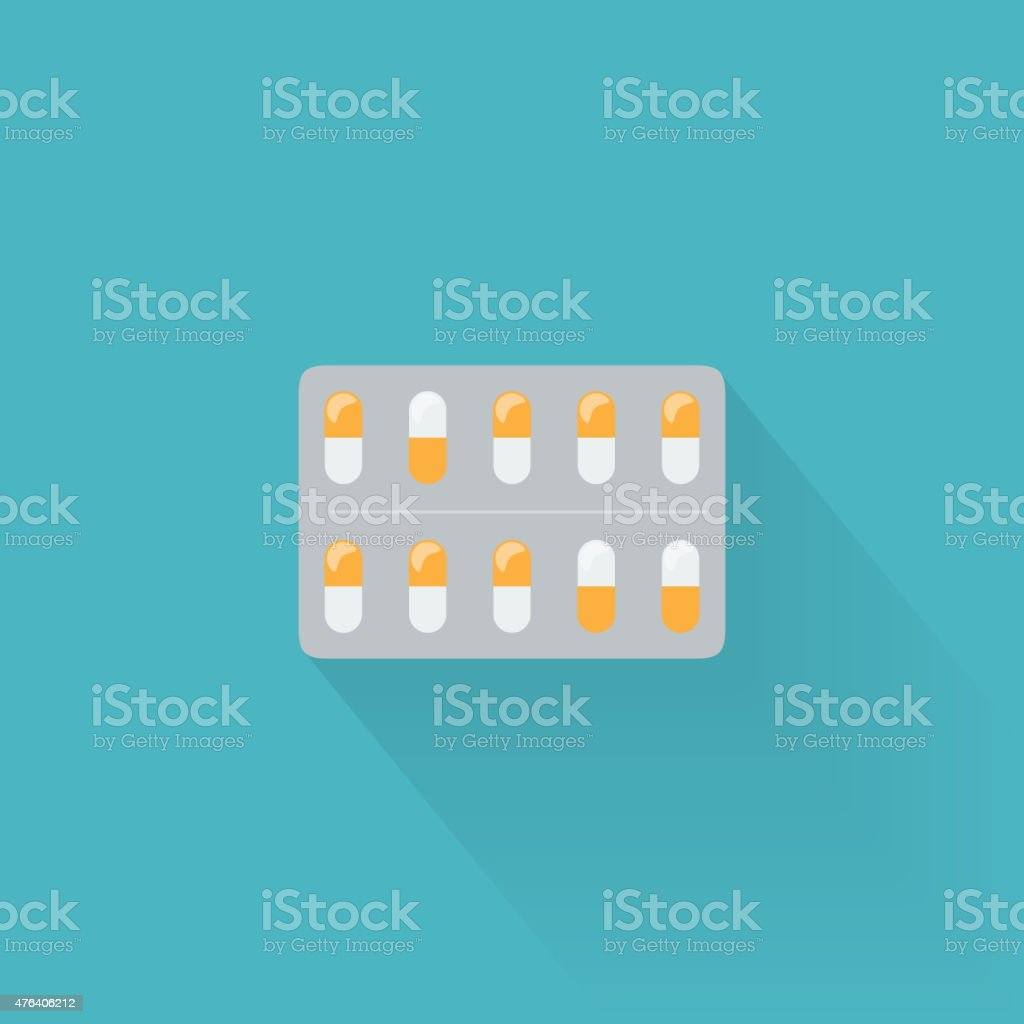 Blister Pack Icon vector art illustration