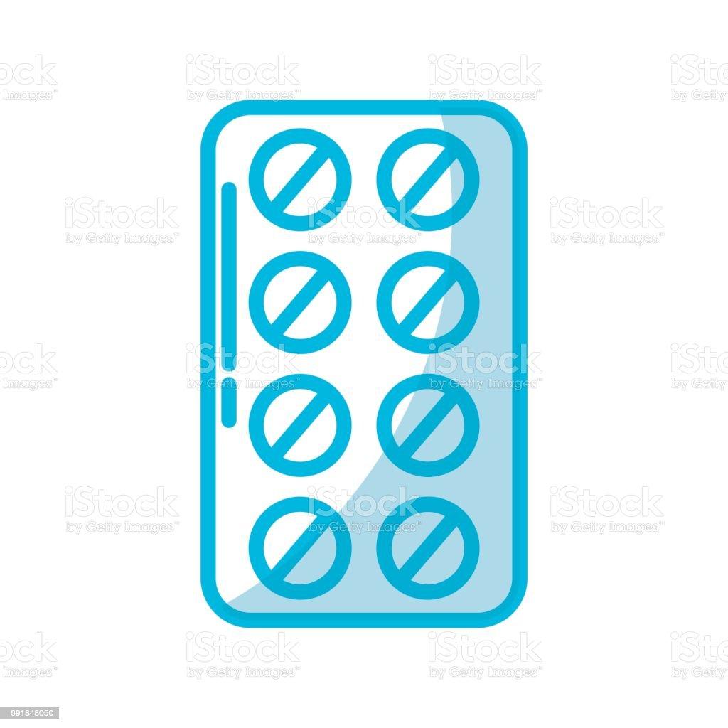 blister pack pills vector art illustration