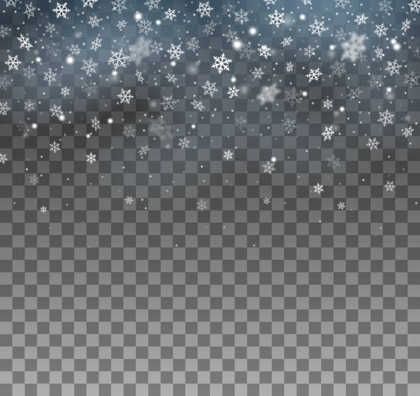tło blizzarda - snowflakes stock illustrations