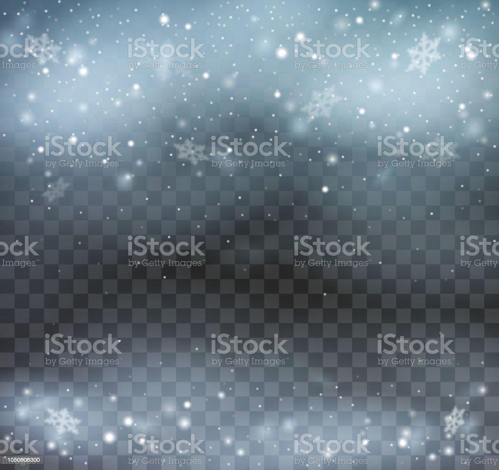 Blizzard On Transparent Background Stock Illustration - Download Image Now