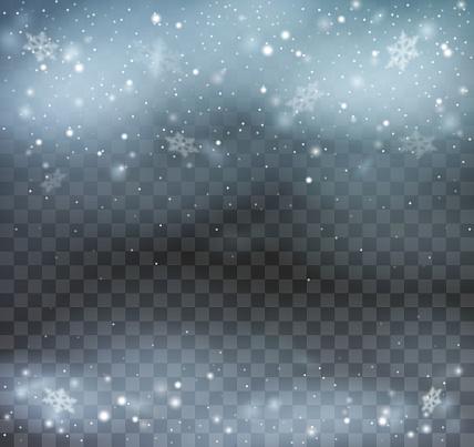 Blizzard on transparent background.