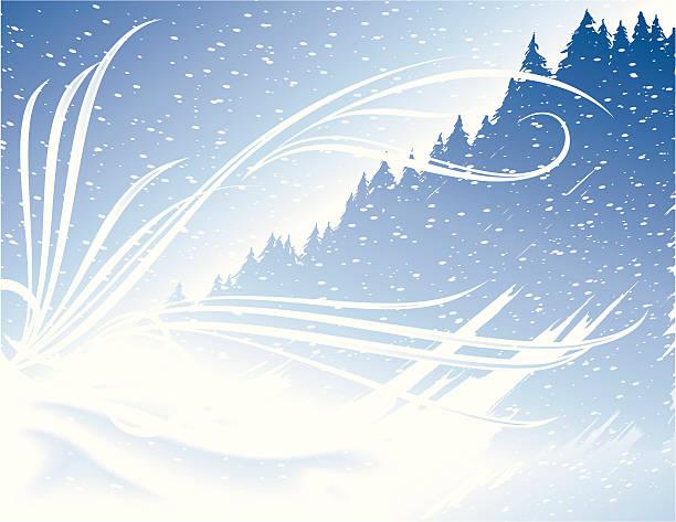 Blizzard vector art illustration