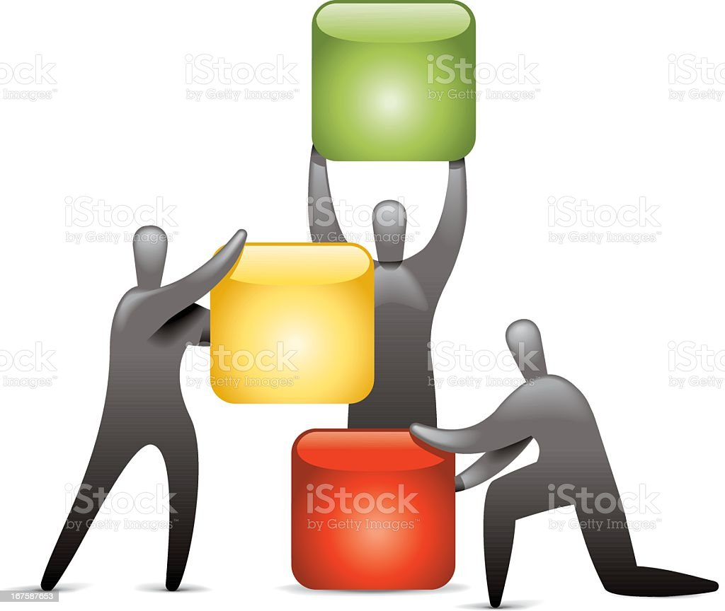 Block Builders royalty-free block builders stock vector art & more images of achievement