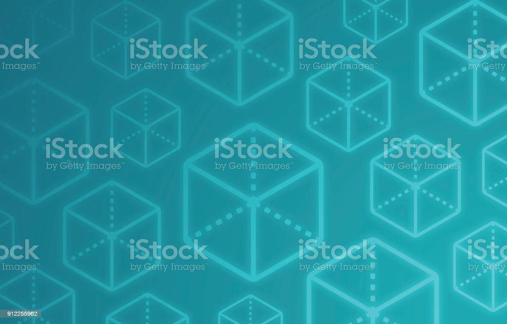 Block Cube Abstract Background vector art illustration