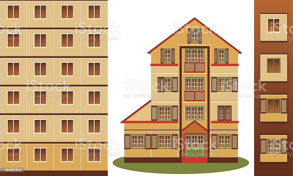 Block House and Tower royalty-free block house and tower stock vector art & more images of apartment