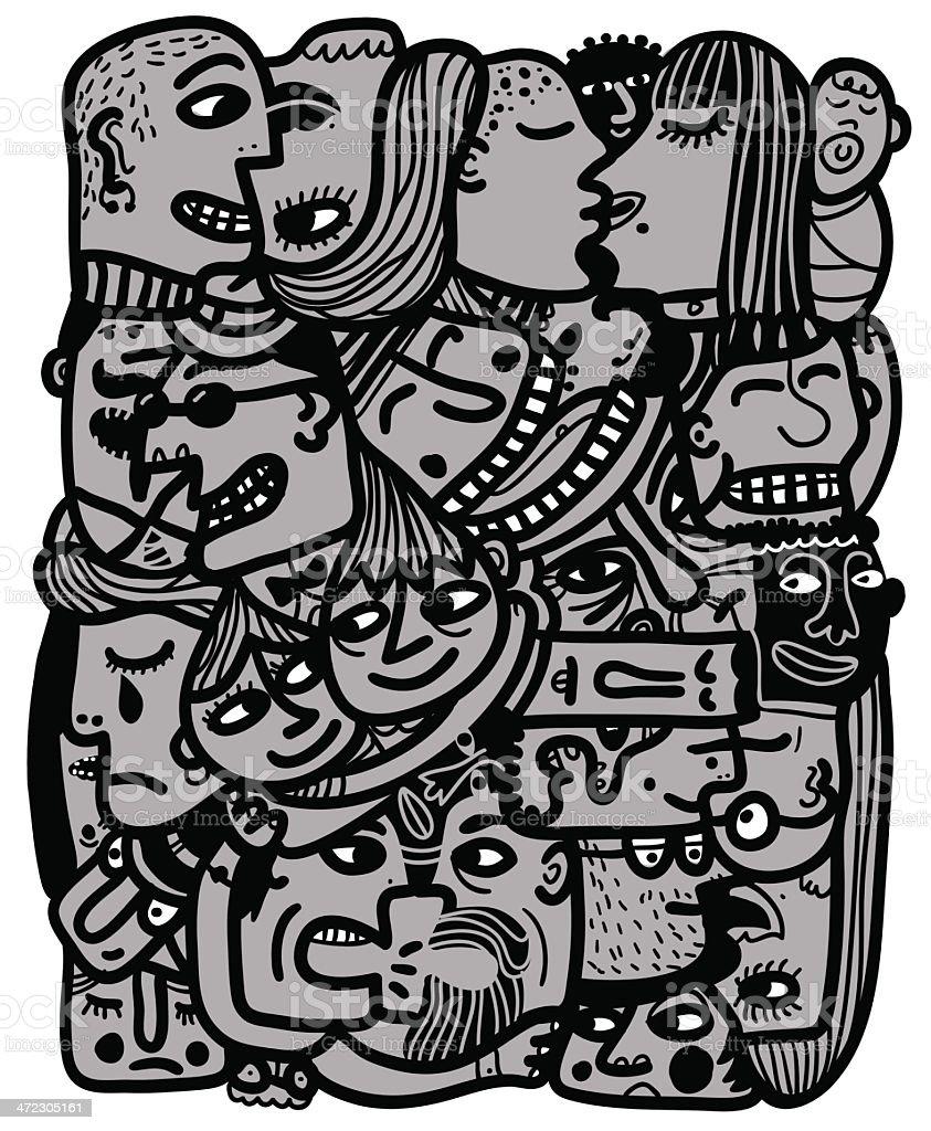 block of people royalty-free stock vector art