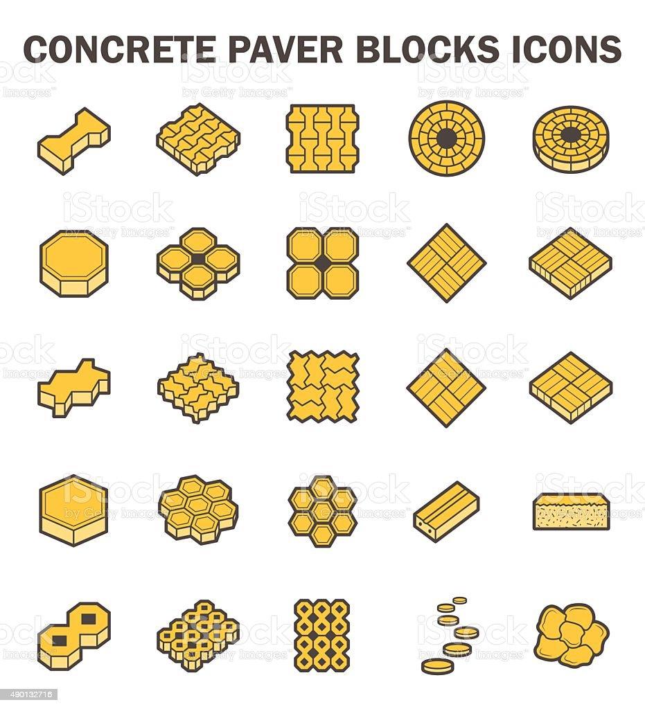 Block vector art illustration