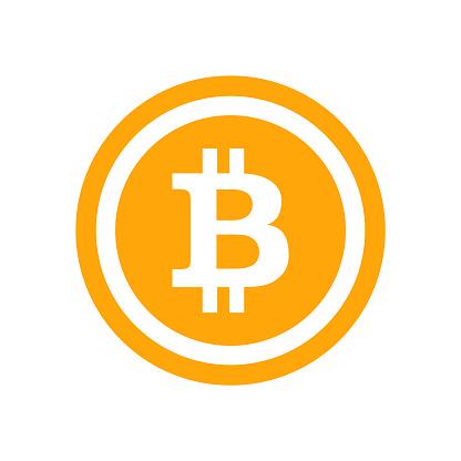 Blockchain bitcoin icons vector illustration with long shadow