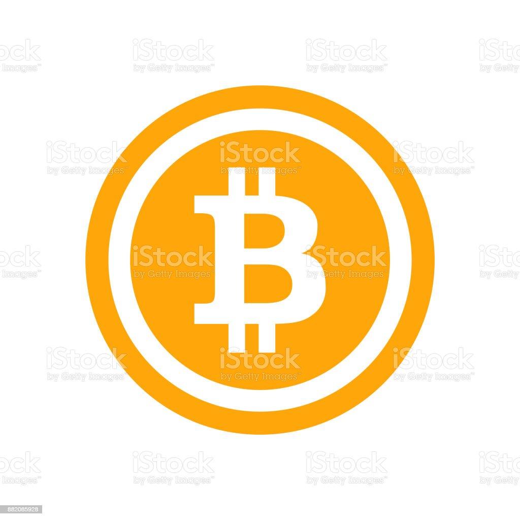 Blockchain Bitcoin Icon Symbol - Vector vector art illustration