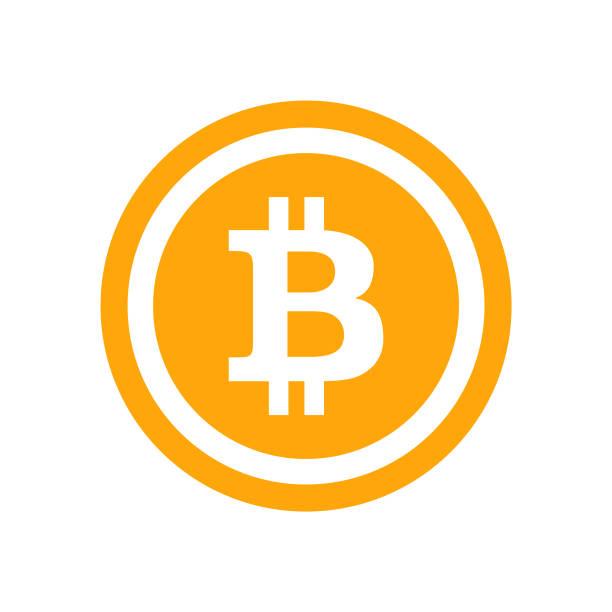 stockillustraties, clipart, cartoons en iconen met symbool van het pictogram van de blockchain bitcoin - vector - bitcoin