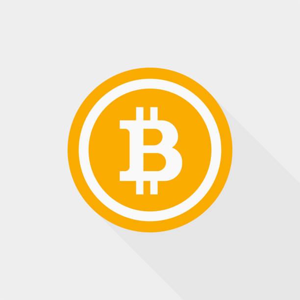 stockillustraties, clipart, cartoons en iconen met blockchain bitcoin pictogram - bitcoin