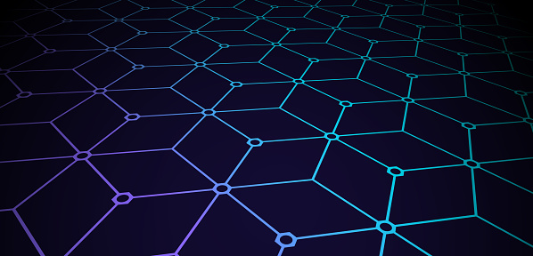 Blockchain Connected Built Structure Seamless Pattern
