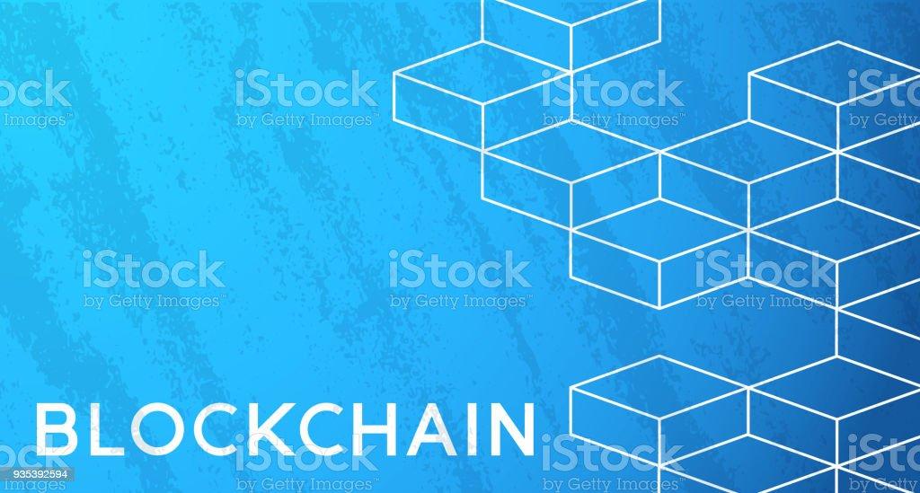 Blockchain Würfel Hintergrund – Vektorgrafik