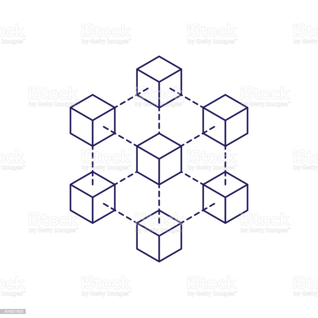 blockchain icon concept on white background cryptocurrency. Black Bedroom Furniture Sets. Home Design Ideas