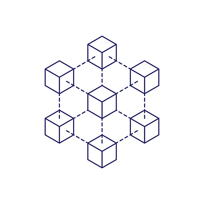 Blockchain icon concept on white background. Cryptocurrency data sign design vector illustration
