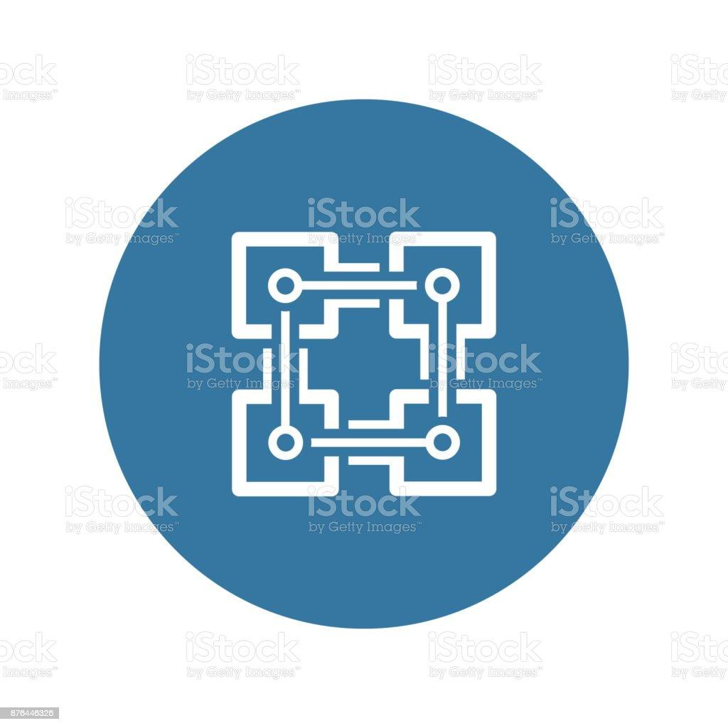 Blockchain-Symbol. – Vektorgrafik