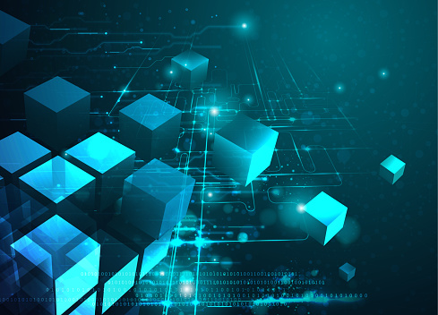 Blockchain Technology Abstract Background