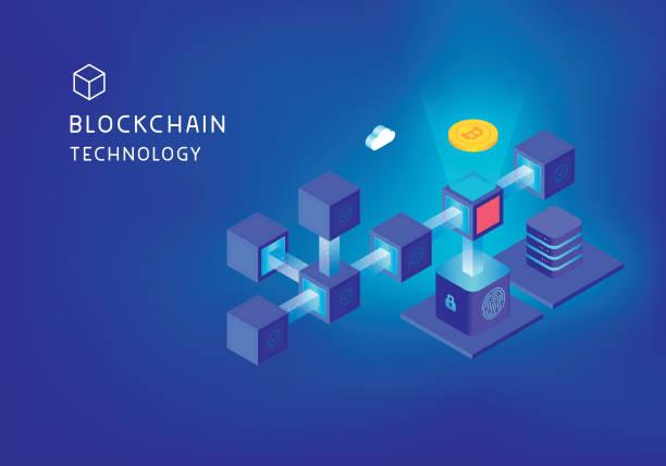 stockillustraties, clipart, cartoons en iconen met blockchain technologie concept - blockchain