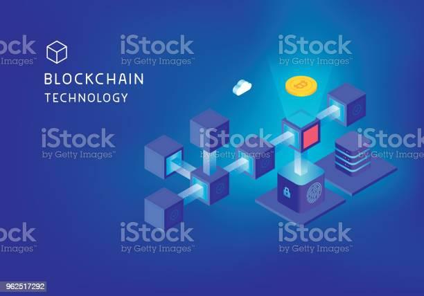 Vetores de Conceito De Tecnologia De Blockchain e mais imagens de Abstrato