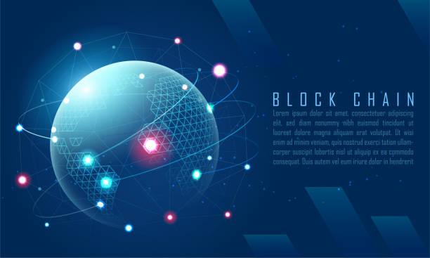 Blockchain-Technologie – Vektorgrafik