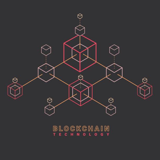 stockillustraties, clipart, cartoons en iconen met blockchain-technologie - blockchain